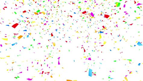 colorful confetti animation of colorful confetti falling loop ready