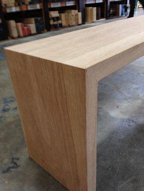 custom  white oak waterfall bench  house  hardwood custommadecom