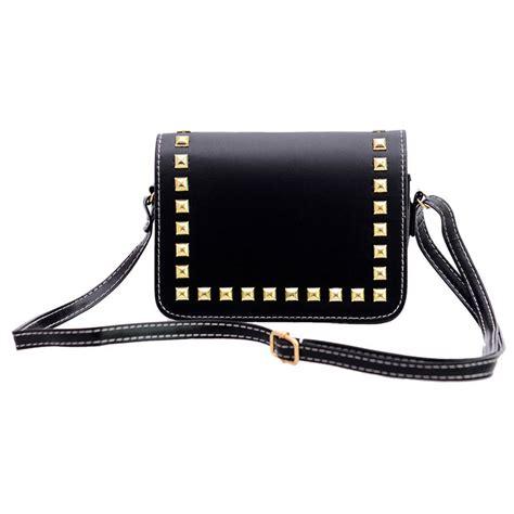Tas Handbag Wanita 635 19 1 tas selempang wanita rivet leather bags black