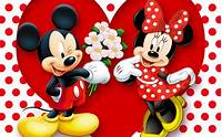 HD Background Mickey Mouse And Minnie Love Couple Heart