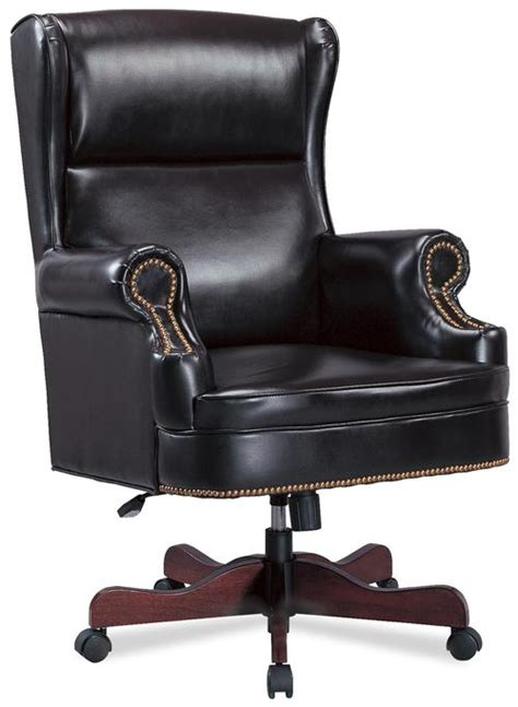 executive office desk chairs coaster office chairs traditional faux leather winged