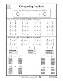 3rd grade math worksheets comparing fractions 3rd grade