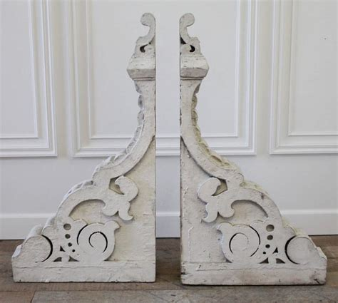 Large Antique Corbels large antique wood architectural corbels with original white paint at 1stdibs