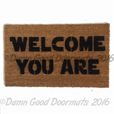 Rude go away, you should?   funny modern doormat   Damn