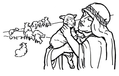 coloring page the lost sheep good shepherd and lost sheep parable coloring pages