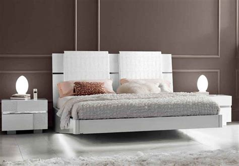 modern wood headboard lacquered made in italy wood modern platform bed with