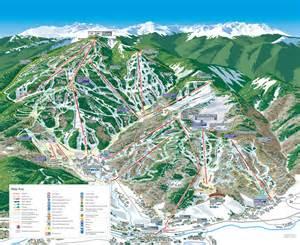 beaver creek ski trail map avon co mappery