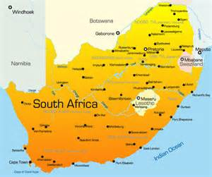 africa and south america map south africa map showing attractions accommodation