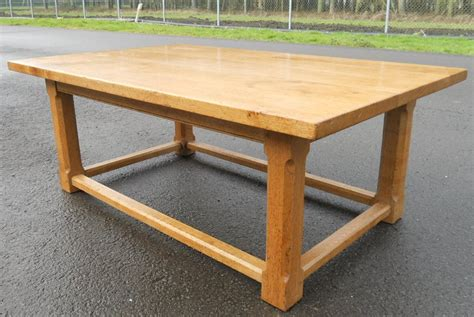 large light oak coffee table
