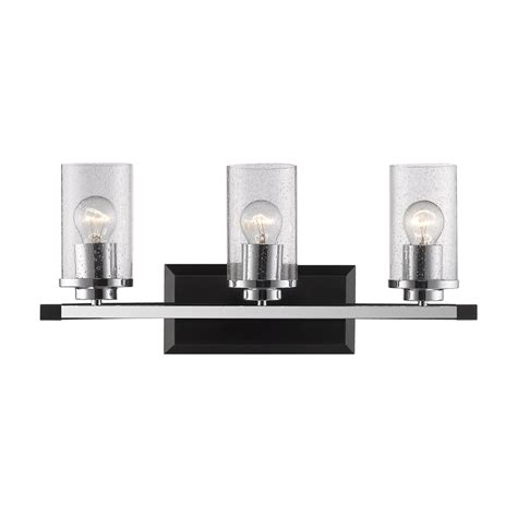 black bathroom lighting shop golden lighting mercer 3 light 9 625 in black