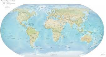 Physical Map Of The World by World Physical Map My Blog