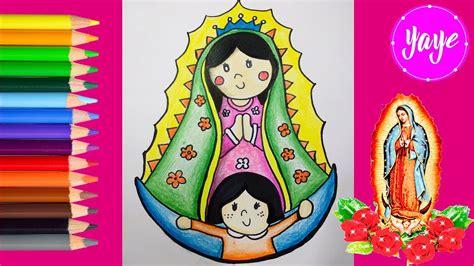 fotos virgen de guadalupe infantil c 243 mo colorear la virgen de guadalupe paso a paso dibujos