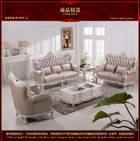 Antique Style Living Room Furniture Antique Style Classic Furniture Living Room Sofa With Genuine Leather 8509 In Living Room Sofas