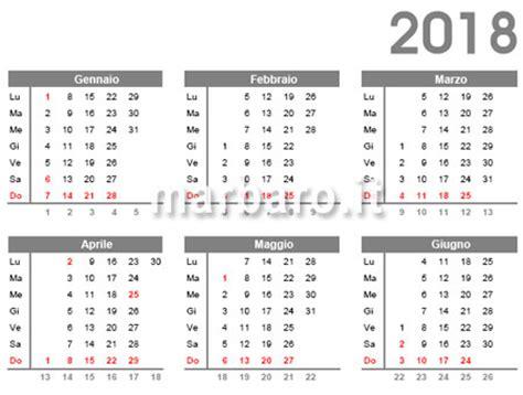 calendario con settimane calendario 2018 da stare scarica gratis in pdf