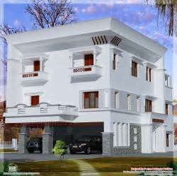 3 storey flat roof home design house design plans