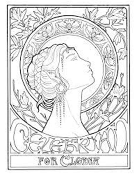 mucha coloring pages on pinterest alphonse mucha
