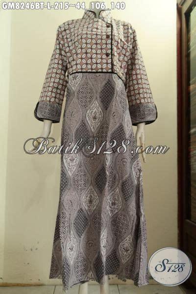 desain baju batik berhijab model baju batik berkelas untuk wanita berhijab gamis