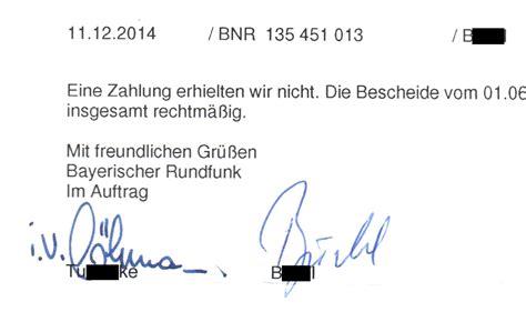 Mit Freundlichen Grã ã En Im Namen Ard Zdf Bescheide Mit Rechtlich Fragw 252 Rdigen Unterschriften