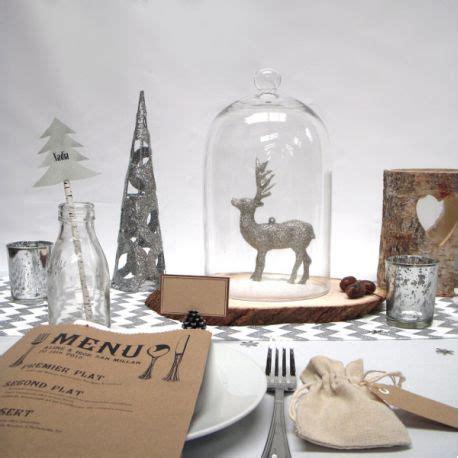 Decoration De Noel Bois decoration table noel argent et bois