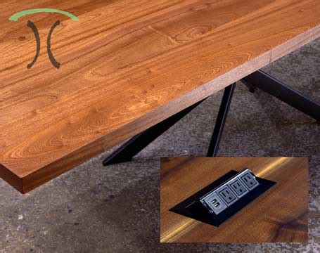 custom hardwood dining tables live edge dining tables and custom hardwood table tops