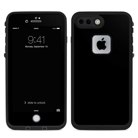lifeproof iphone 7 plus fre skin solid state black by solid colors decalgirl