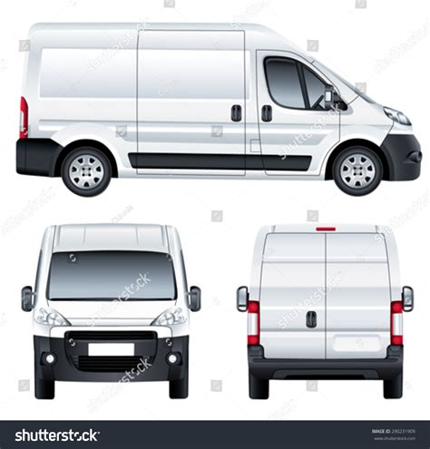vehicle vector templates vector service car template white blank stock vector