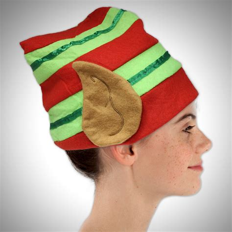 striped elf hat with ears imprintable hats