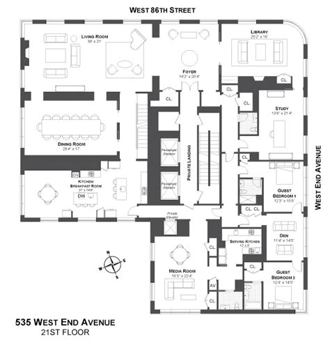 new york floor plans 535 west end avenue penthouse luxury apartments facade