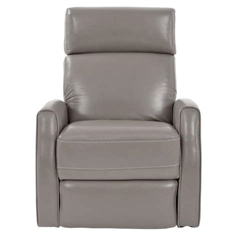 Gray Leather Recliner Chair Lucca Gray Power Motion Leather Recliner El Dorado Furniture