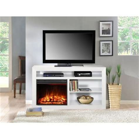 white electric fireplace media console muskoka 54 in media console electric fireplace in white mtvs2318sw the home depot
