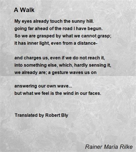 re created a poetic walk through the gospel of books a walk poem by rainer rilke poem