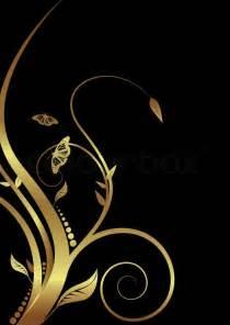 Freelance Home Design Jobs Abstract Golden Floral Design On A Black Background