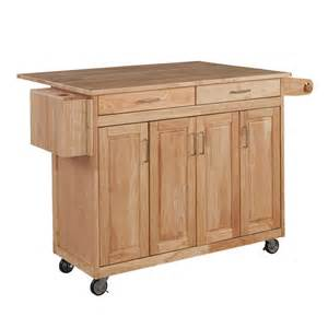 Kitchen Islands Wheels home styles natural kitchen cart w breakfast bar the