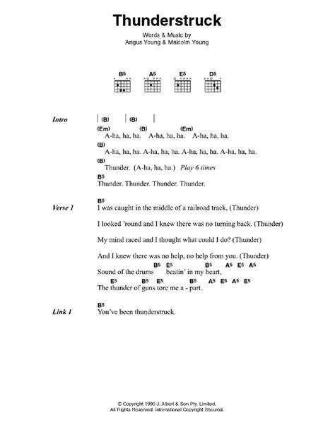 Thunderstruck by AC/DC - Guitar Chords/Lyrics - Guitar ... Ac Dc Thunderstruck Guitar Tabs