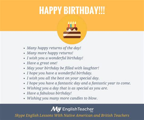 How To Wish In Happy Birthday Other Ways To Say Quot Happy Birthday Quot Myenglishteacher Eu