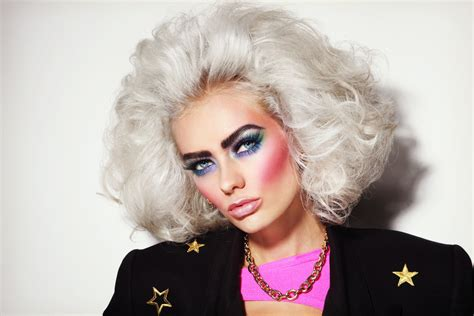 hair and makeup of the 80 s the cringe worthy beauty trends from the 80s