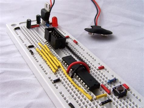 breadboard circuit atmega8 breadboard circuit part 1 of 3 power supply protostack