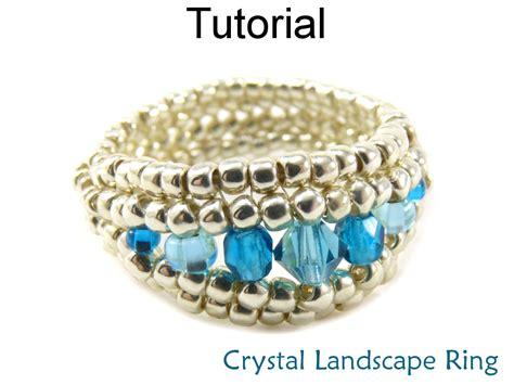 beaded ring patterns beading tutorial ring herringbone stitch simple bead