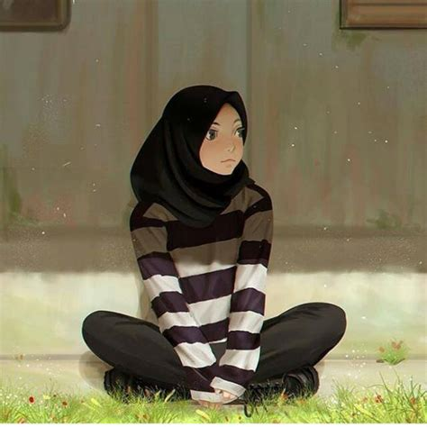 ide berhijab gambar keren anime hijab marie charlot