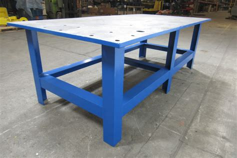 tall work bench 48x96x32 quot tall steel welding layout work table bench 1