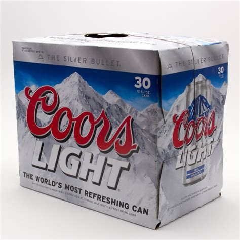 Coors Light Beer 12oz Can 30 Pack Beer Wine And
