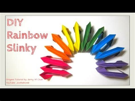 diy origami slinky origami rainbow no glue summer