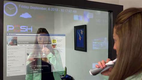 Retro Bathroom Mirror Imirror Interactive Mirror Project Glass Technabob