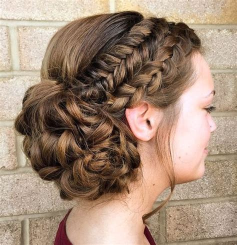 Braided Hairstyles With Curls by 40 And Comfortable Braided Headband Hairstyles