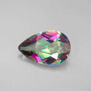 2.8 carat pear 12.1x7.9mm mystic topaz gemstone