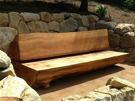 bench log garden log bench garage plans pinterest gardens logs and log benches
