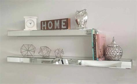 Blog Add Magical Sparkle To Your Home With Mirrored Mirror Floating Shelves