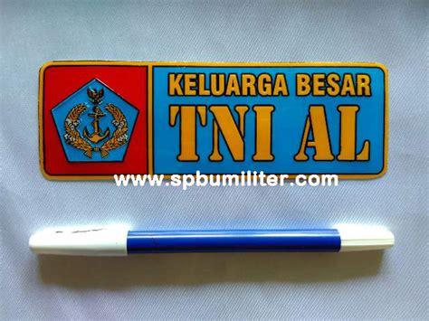 Stiker Timbul Keluarga Besar Tni Al Biru dompet uang logo bordir spbu militer