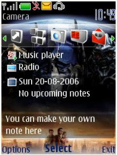 mobile themes of movies download transformer nokia theme mobile toones