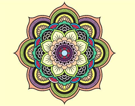 orientali fiori disegno mandala fiore orientale colorato da ange11 il 21